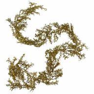 6' Plastic Leaf Garland - Gold