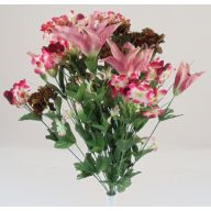 X24 T Lily Carnation Hydrangea - Mauve / Beauty