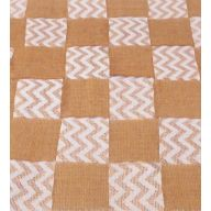 "72 X 14 "" Burlap Chevron Lace Check Table Runner"