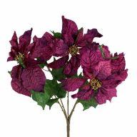 "X5 Poinsettia Bush - Purple (10.5"" Heads)"