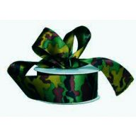 "1.5 "" X 25yd Unwired Doubleface Satin Undercover Camo Ribbon"