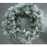 """30"""" Flocked Walden Wreath"""