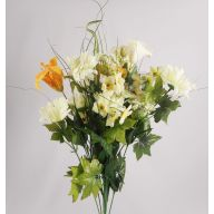 X24 GERBER DAISY/T.LILY/CALLA LILY/ QUEEN ANNS LACE MIX - YELLOW / CREAM
