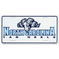 "6' X 12 "" Collegiate License Plate - North Carolina Tar Heels"