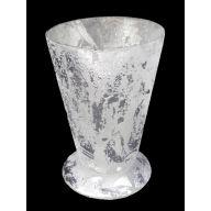 """4.5 """" Velvet Silver J Cup / Candle Holder"""