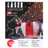 """7.7 """" Electric Laser Lightscape w / Base & Ground Stake"""