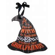 """10.8 """" Wood Witch Hat Ornament"""
