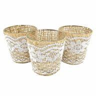"""2.5"""" JUTE & LACE VOTIVE (SOLD BY SET OF 6 ONLY)"""