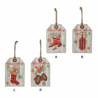 11.75 '' H Wood Holiday Hanging Signs