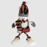"14""H Plush Holiday Snowman Shelf Sitter"