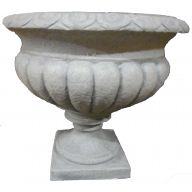 """15.75 x 13.75 """" Resin Planter - Light Stone (SHIPS BY PALLET ONLY)"""