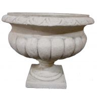 "Resin Urn 19.75 x 18 "" - Granite (SHIPS BY PALLET ONLY)"