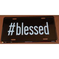 """6 x 12 """" #blessed Car Tag (#2792)"""