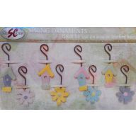 """8 Assorted Spring Hanging Ornaments 2.5 """""""