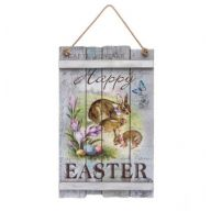 "18.38 "" MDF Happy Easter Plank Plaque"