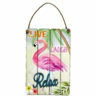 "Flamingo Wall Art - ""Live, Laugh, Relax"""