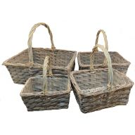4 PC Rectangle Willow w / Liner