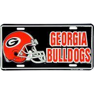 "6 x 12 "" Georgia Bulldogs Red Helmet Car Tag"