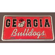 "6 x 12 "" Georgia Bulldogs Tag"