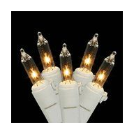 Set of 36 Wreath Lights Clear w/ White Wire