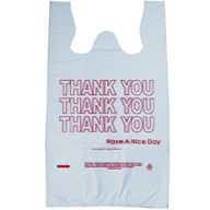 1 / 6 T Shirt Value Pack White Thank You Bag ( 1000 Per Case / Sold By Case Only )