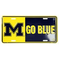 "6 x 12 "" Michigan "" M "" Go Blue Car Tag"