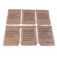 "8"" X 11"" Burlap Biblical Squares - 6 Styles (Sold By Pack Of 6 - 1 Of Each Style) ***Exclusive***"