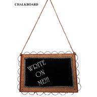 "12 X 8 "" Hanging Wood Burlap Chalkboard"