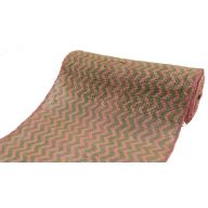 "18""X10YD OPEN WEAVE RIBBON CHEVRON-GREEN/PINK"