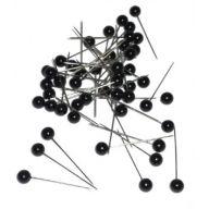 """1.5 """" Black Round Head Corsage / Boot Pins"""