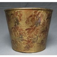 "7 "" Rust Burnt Gold Metal Planter"