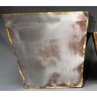 Square Grey Gold Metal Planter