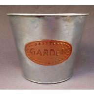 """7.5 x 5 X 6 """" Galvanized & Copper Pot Cover w / Liner"""