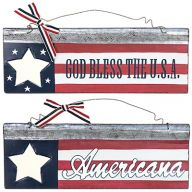 US Flag Plaque Hanger