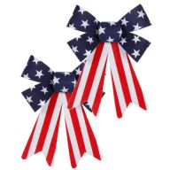 Set 2 Velvet Patriotic Bow