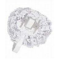 Lace Wristlet W Velcro - White