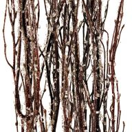 3 - 4 ' ft Birch Branches - Icicle ( 5 stems per pack )