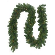 "9'x10"" LIGHTED SHREWSBERRY SPRUCE GARLAND"