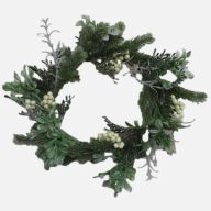 "12"" Wreath Mix w/ White Berries"