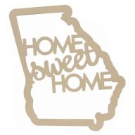 "23 "" Wood Home Sweet Home Georgia Outline"