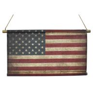 "27 X 16 "" American Flag Hanging Canvas Banner"
