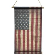 """30 X 20 """" American Flag Hanging Canvas Banner"""