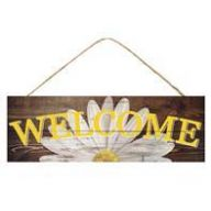 "15 "" L x 5 "" H Welcome Daisy Sign"