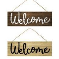 """15 """" L x 5 """" H Wood Welcome Sign"""