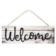 """15 """" L x 5 """" H Welcome Sign"""