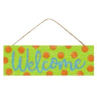 "15 "" L x 5 "" H Welcome Polka Dot Sign"