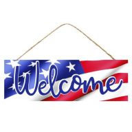 """15 """" L x 5 """" H Welcome Flag Sign"""