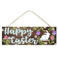 "15 "" L x 5 "" H Happy Easter Bunny Sign"