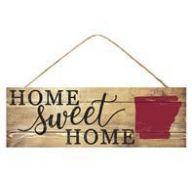 """15 """" L x 5 """" H Home Sweet Home Arkansas"""