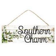 "15 "" L x 5 "" H Southern Charm Sign - Beige / Black / Cream / Green"